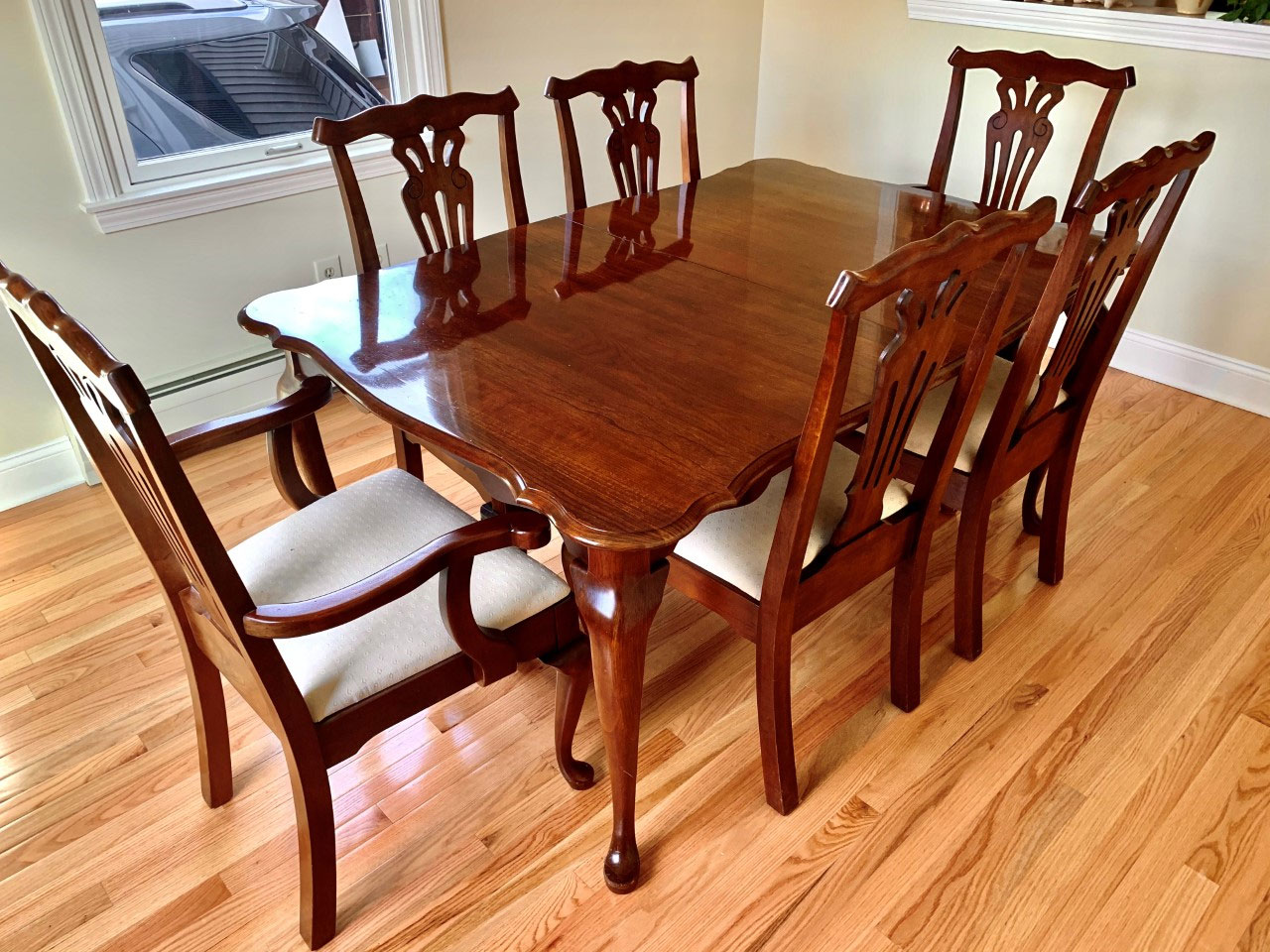 Pennsylvania House Solid Cherry 7 Piece, Used Pennsylvania House Dining Room Furniture